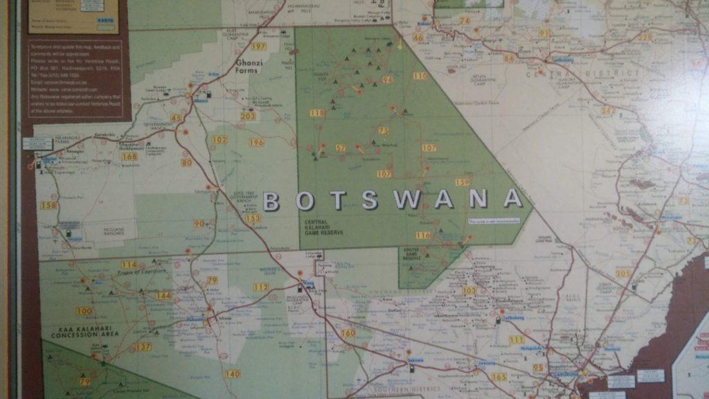 Highlight Karte Botswana